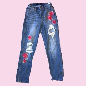 Embroidered Mom Jeans